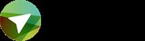 Das Logo von Netzwerk Grüne Arbeitswelt zeigt einen weißen Pfeil vor verschienenen Grüntönen und einen dreiteiligen Schriftzug in Schwarz